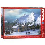Rocky Mountain Christmas 1000 Piece Puzzle by Dominic Davidson